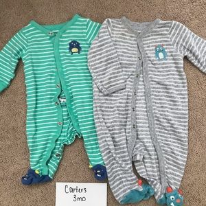 Carters 3 month footie jams